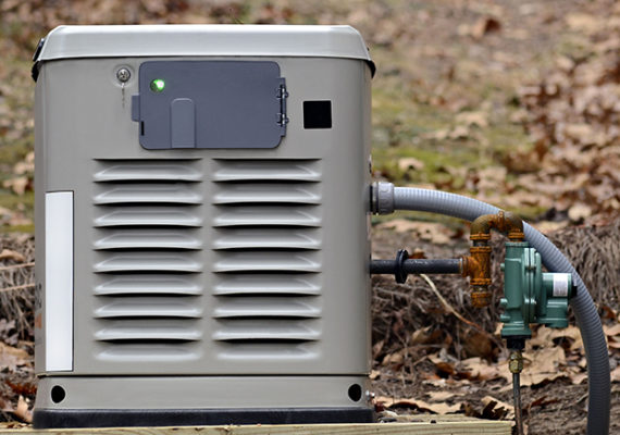 34552924 - a home backup generator for use during power outages.